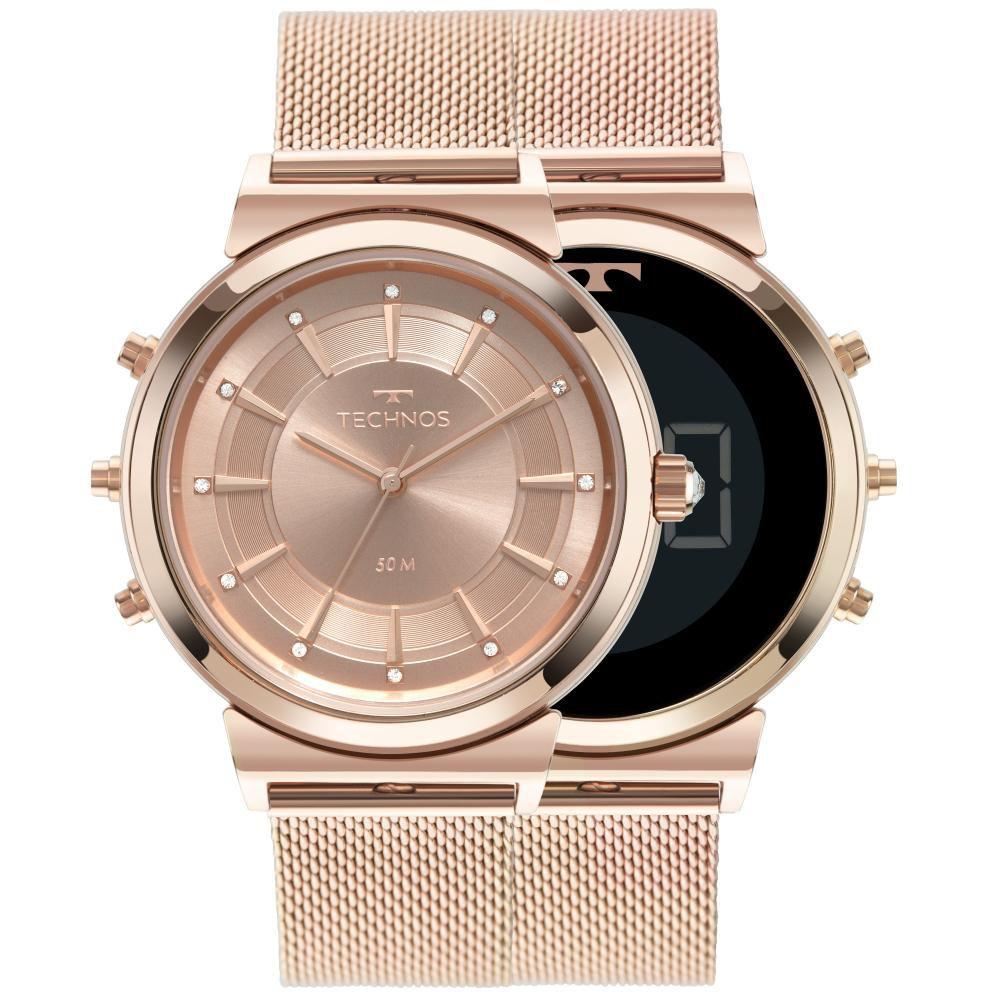 Relógio Feminino Technos Curvas 9T33AC/4J 38mm Aço Rosé