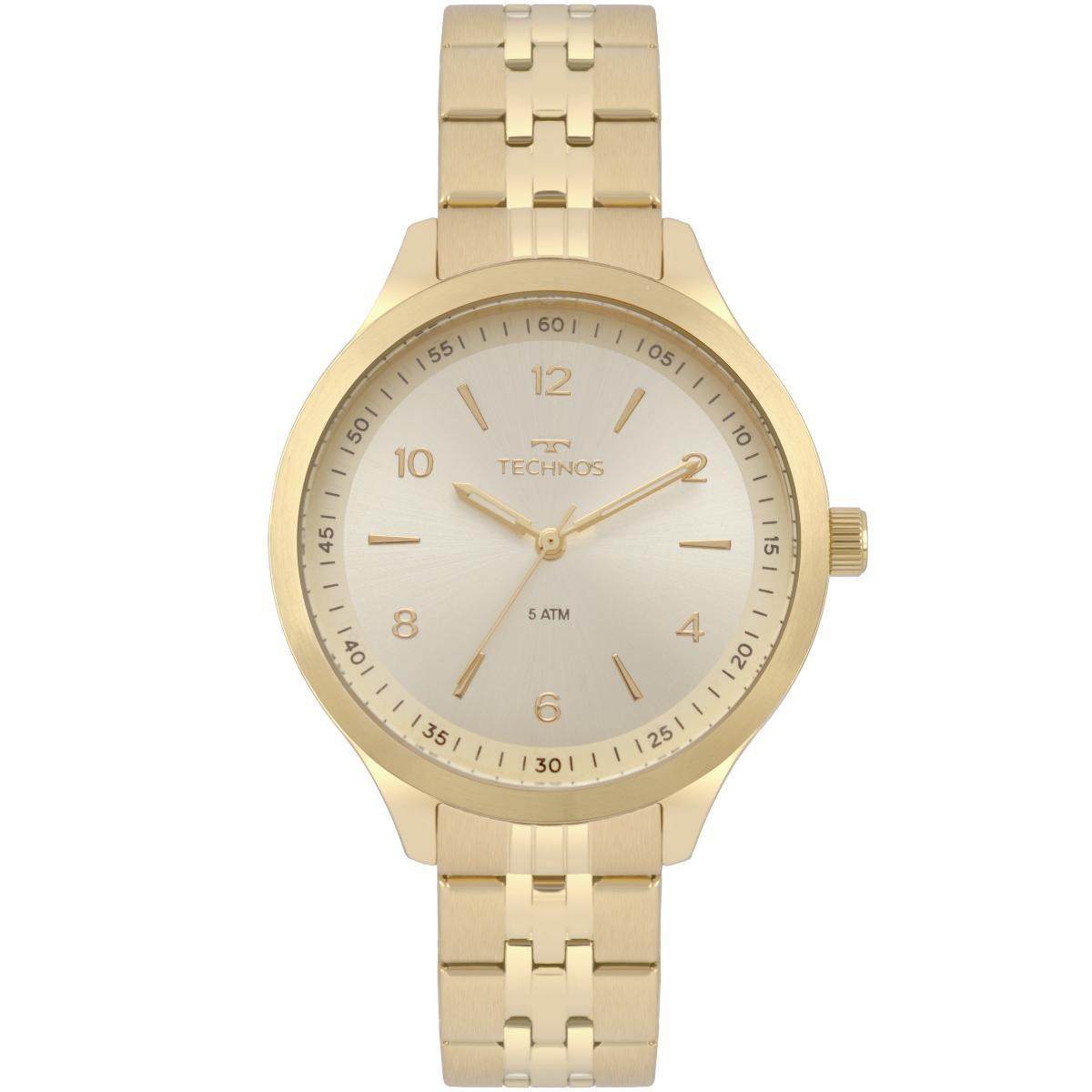 Relógio Feminino Technos Dress 2035MOT/4X 40mm Aço Dourado
