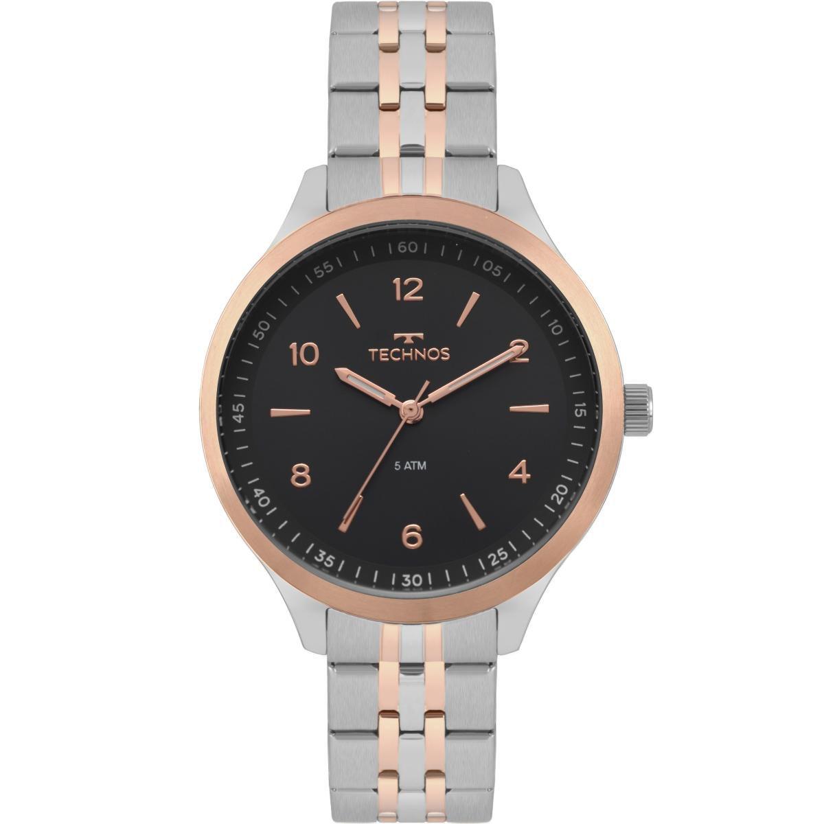 1a53305613b Relógio Feminino Technos Dress 2035MOV 5P 40mm Aço Bicolor Prata Dourado