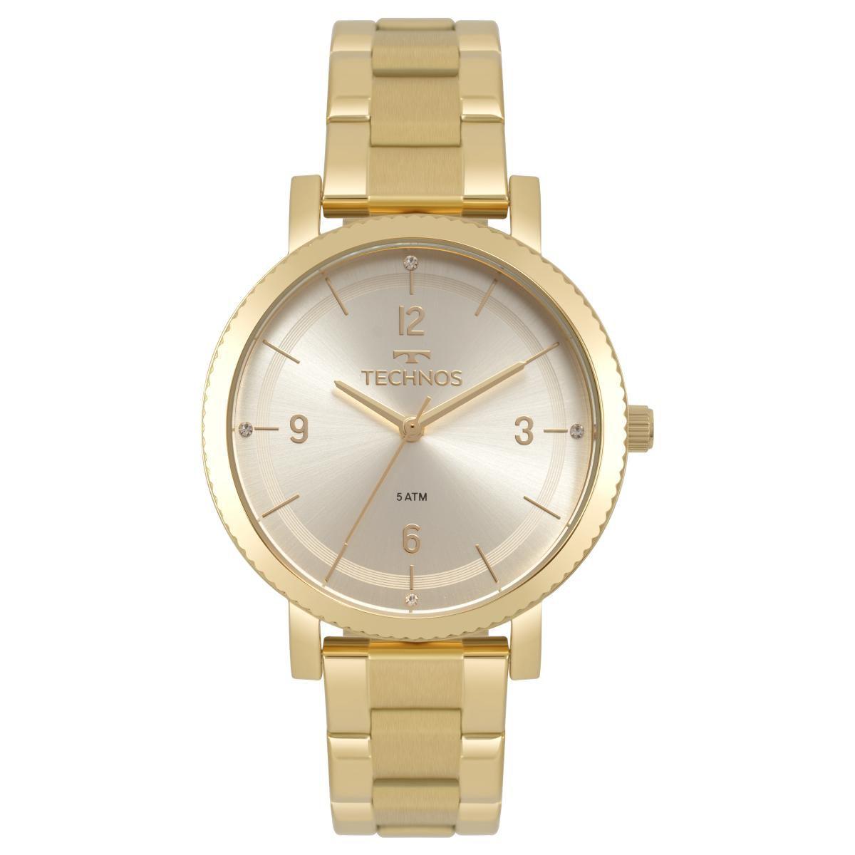 Relógio Feminino Technos Dress 2035MPR/4X 36mm Aço Dourado