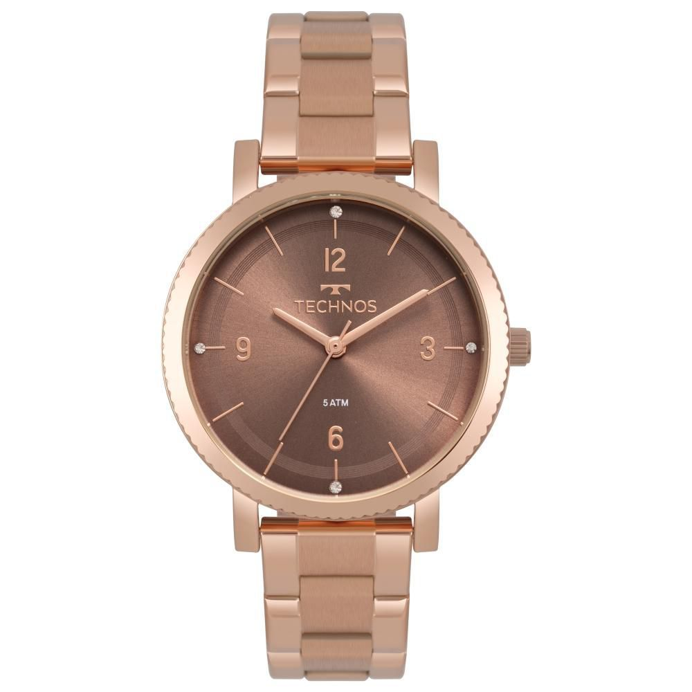 Relógio Feminino Technos Dress 2035MPT/4M 36mm Aço Rose
