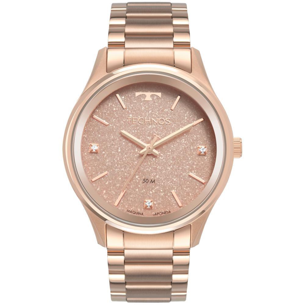 Relógio Feminino Technos Dress 2036MLY/4T 40mm Aço Rose