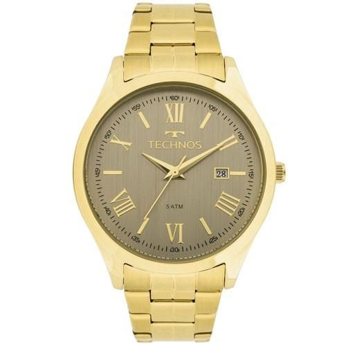 Relógio Feminino Technos Dress 2115MGM/4C 40mm Pulseira Aço Dourada