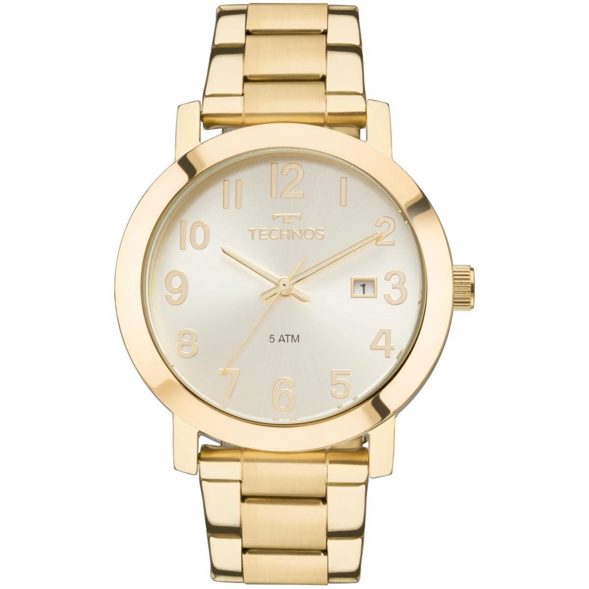 63293a043a4 Relógio Feminino Technos Dress 2115MND 4X Pulseira Aço Dourada