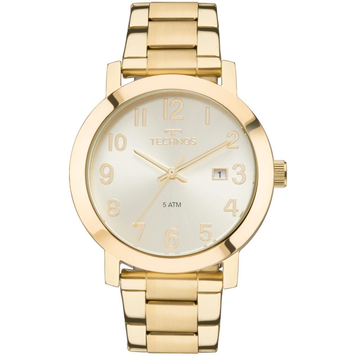 Relógio Feminino Technos Dress 2115MND/4X Pulseira Aço Dourada