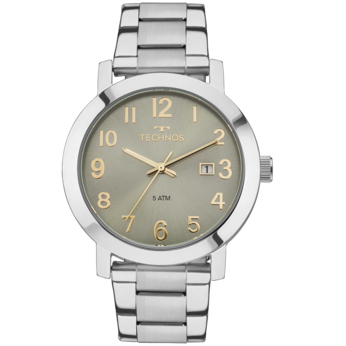 Relógio Feminino Technos Dress 2115MNE/4V Pulseira Aço Prata
