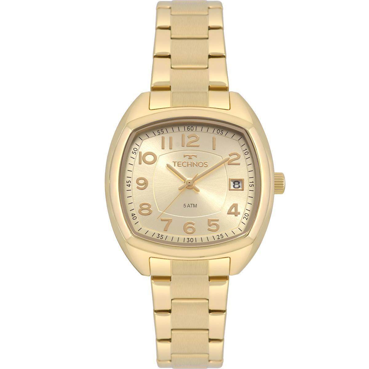 Relógio Feminino Technos Dress 2115MRJ/4X 34mm Aço Dourado