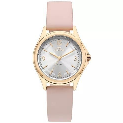 Relógio Feminino Technos Elegance 2035MNJ/2K 31mm Couro Rosa