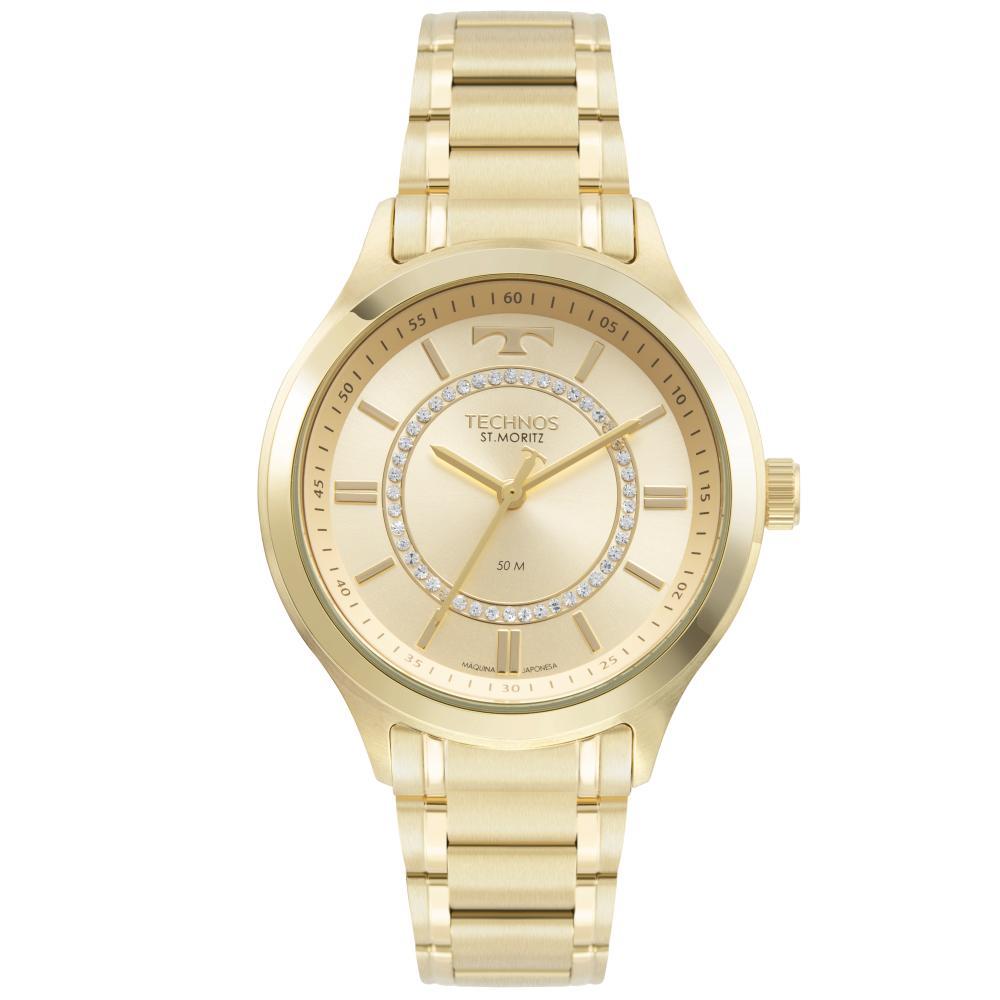 Relógio Feminino Technos Elegance 2036MMT/1D 38mm Aço Dourado