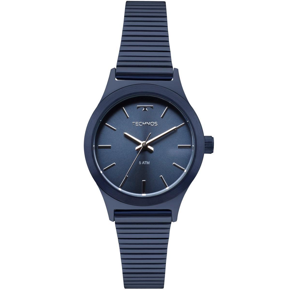 Relógio Feminino Technos Elegance Boutique 2035MMI/4A 30mm Aço Azul
