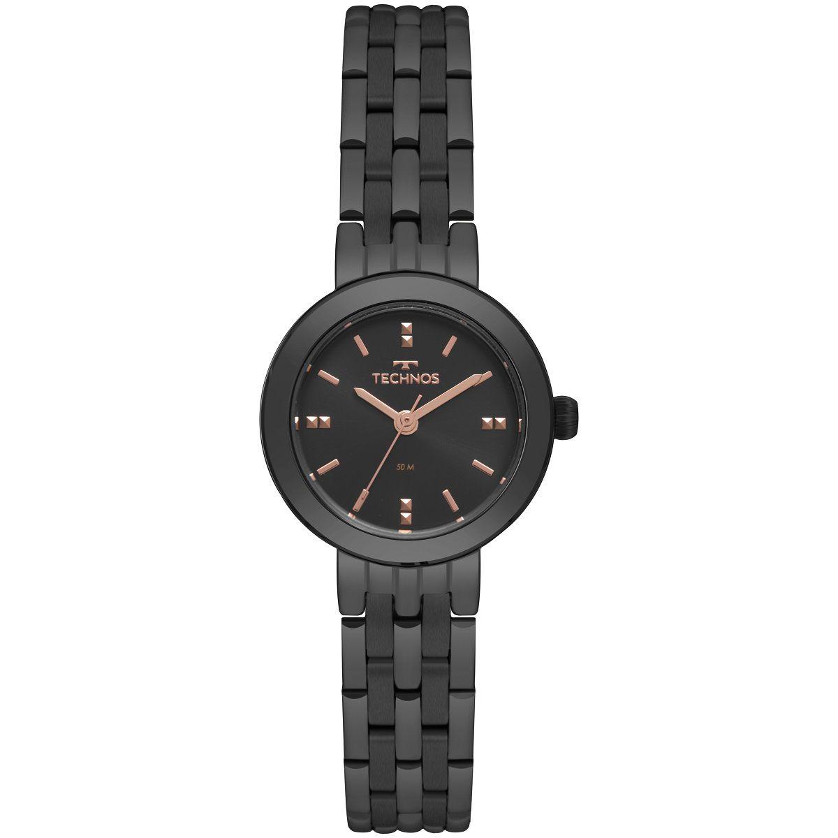 Relógio Feminino Technos Elegance Boutique 2035MQN/4P 26mm Aço Preto