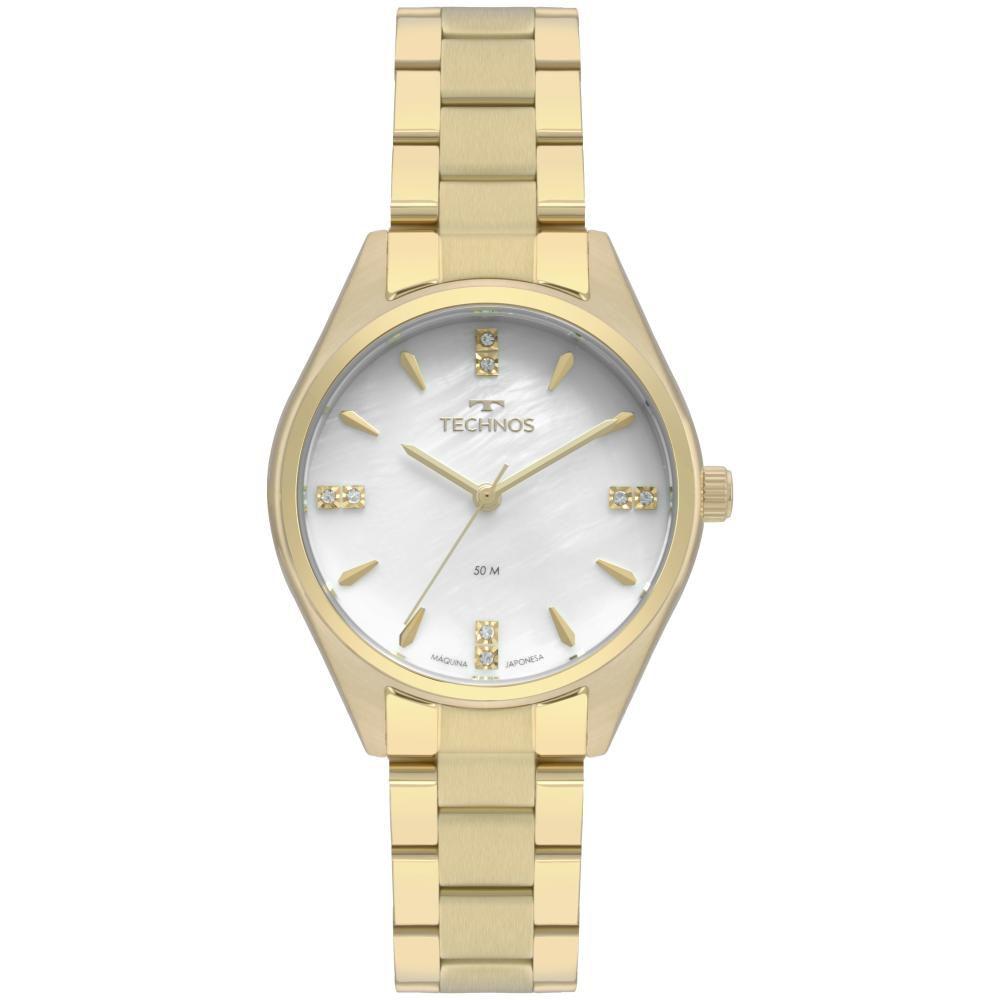 Relógio Feminino Technos Elegance Boutique 2036MKQ/4B 35mm Aço Dourado