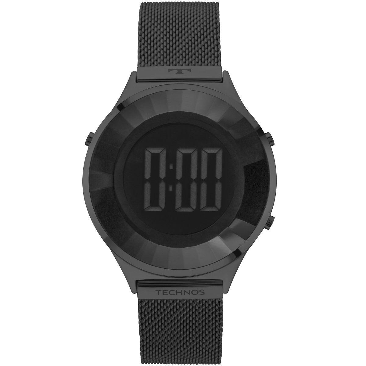 Relógio Feminino Technos Elegance Crystal BJ3851AE/4P 40mm Aço Preto
