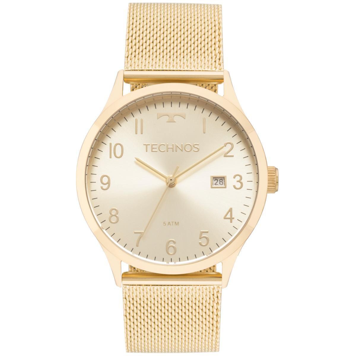 Relógio Feminino Technos Elegance Dress 2115MNK/4X 38mm Aço Dourado