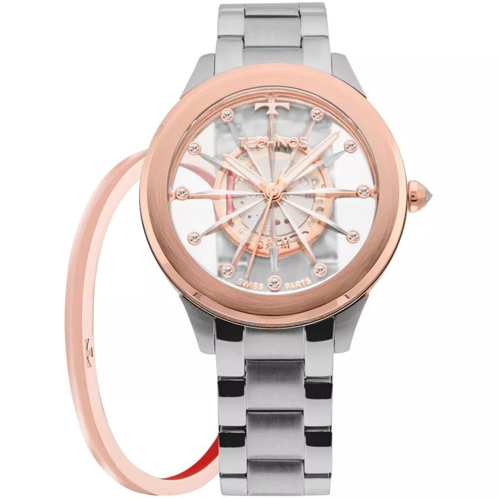 Relógio Feminino Technos Elegance F03101AB/K1W Aço Prata