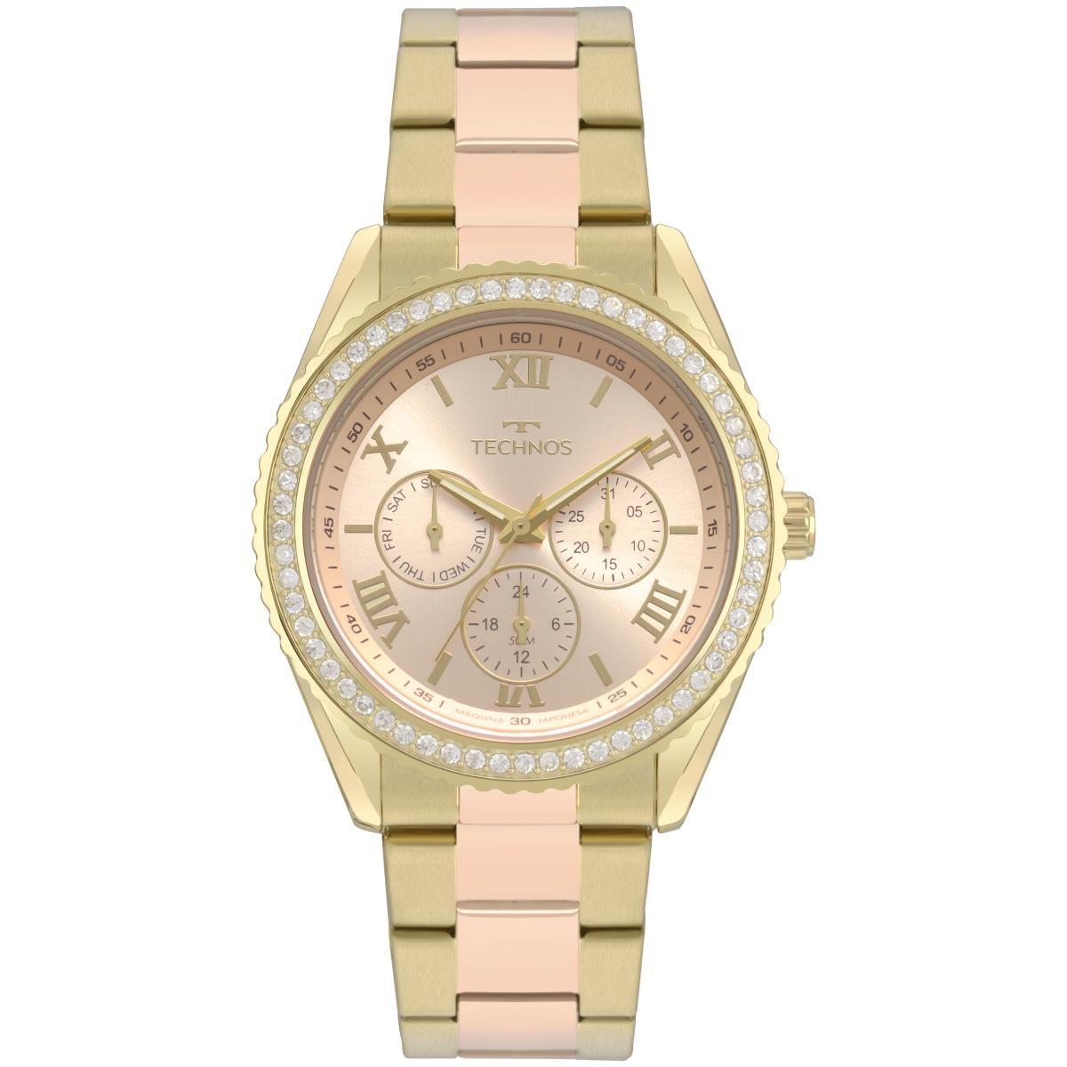 Relógio Feminino Technos Elegance Ladies 6P29AKG/5T 42mm Aço Dourado/Rosé
