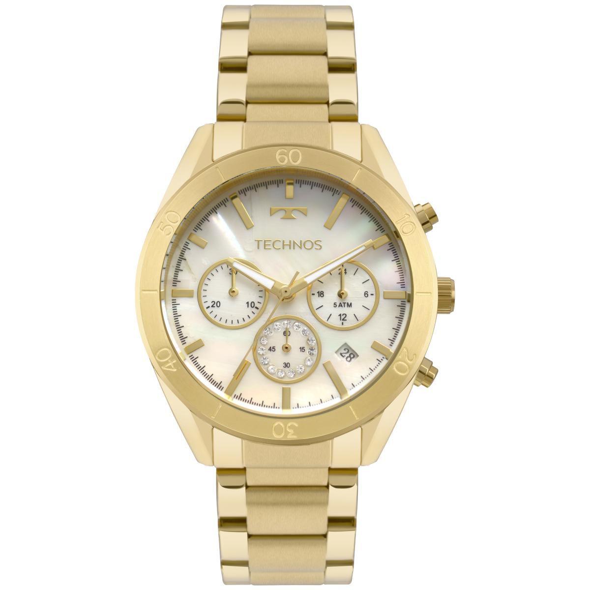 Relógio Feminino Technos Elegance Ladies JS25BV/4B 40mm Aço Dourado