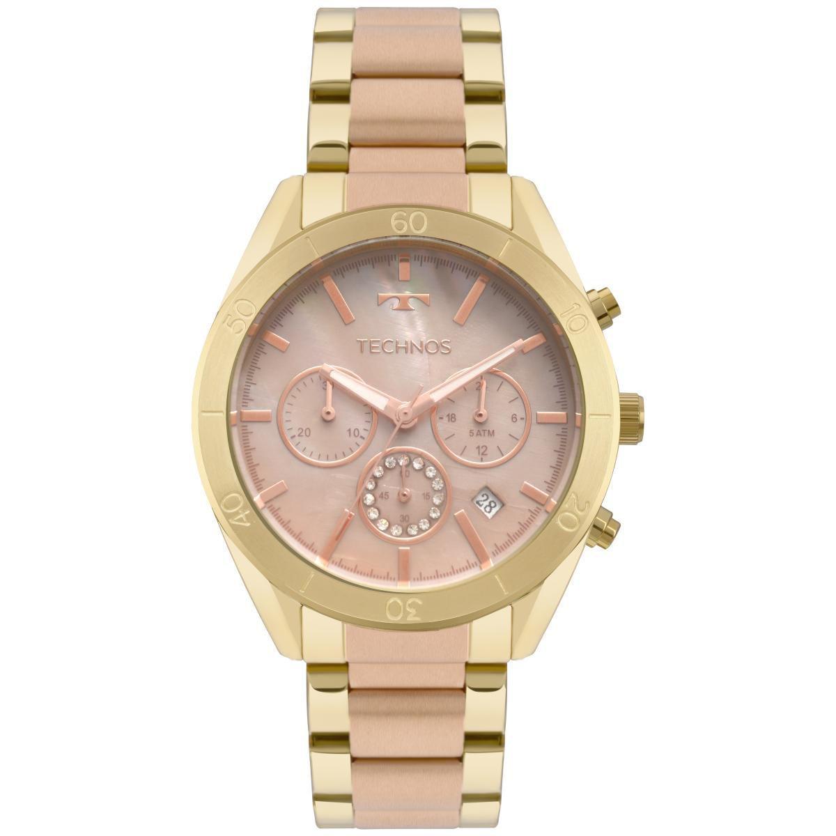 Relógio Feminino Technos Elegance Ladies JS25BW/5M 40mm Aço Dourado/Rose