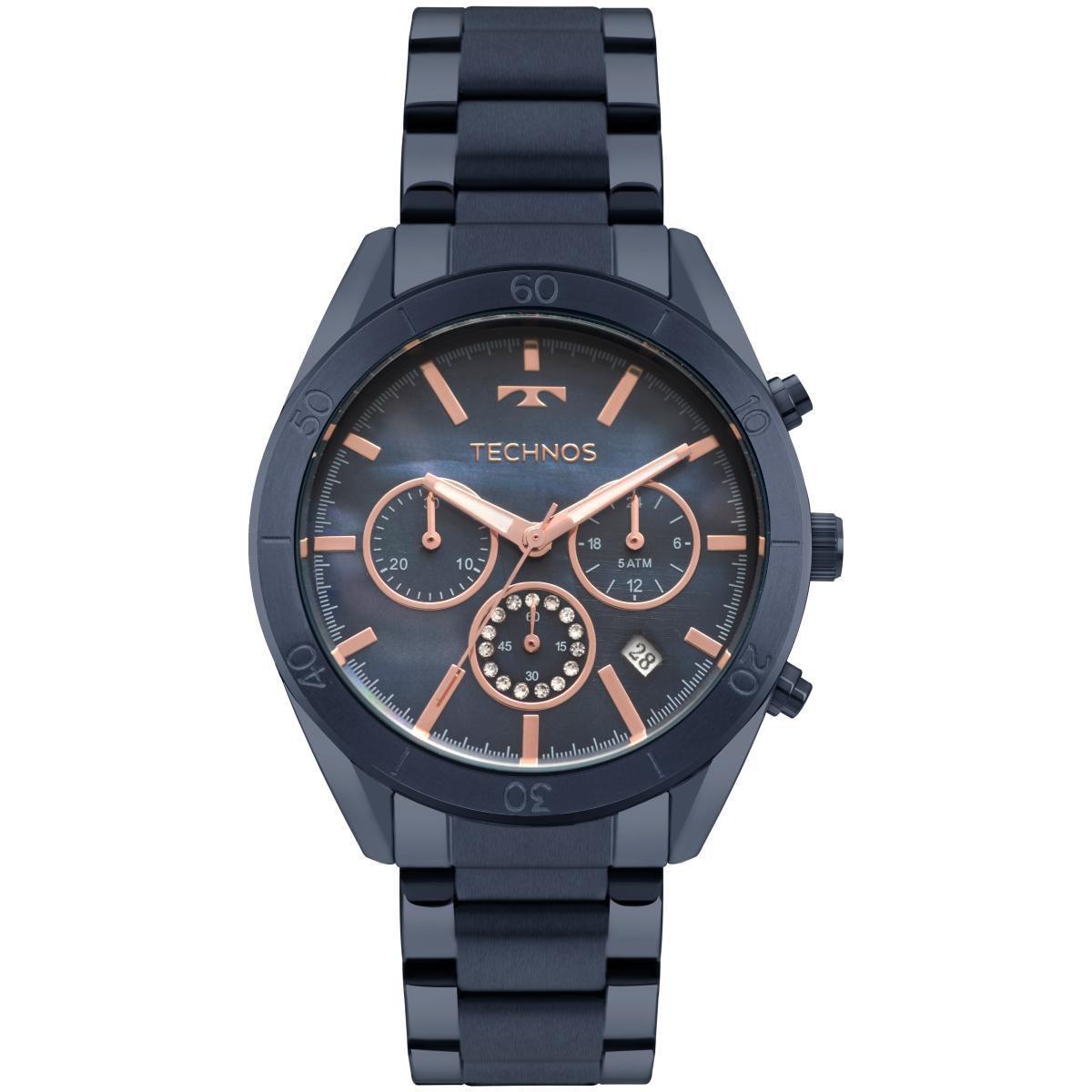 Relógio Feminino Technos Elegance Ladies JS25BX/4A 40mm Aço Azul