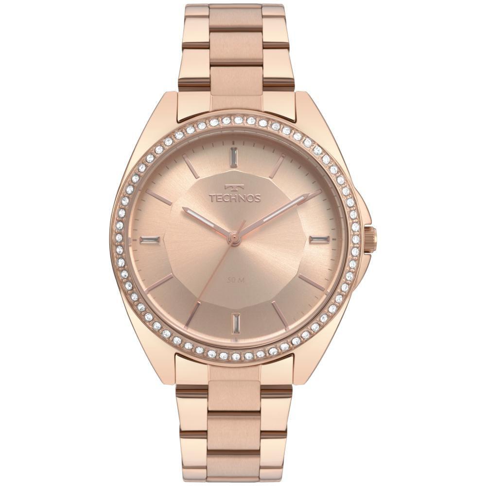 Relógio Feminino Technos Fashion 2035MQW/4A 38mm Aço Rose