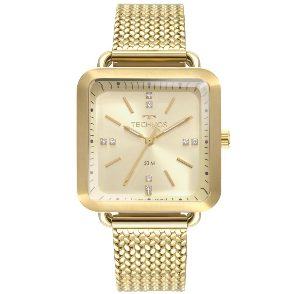 Relógio Feminino Technos Fashion Style 2036MME/4X 34mm Aço Dourado