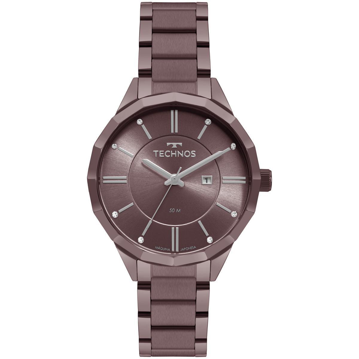 Relógio Feminino Technos Fashion Trend 2015CCN/4G 38mm Aço Roxo