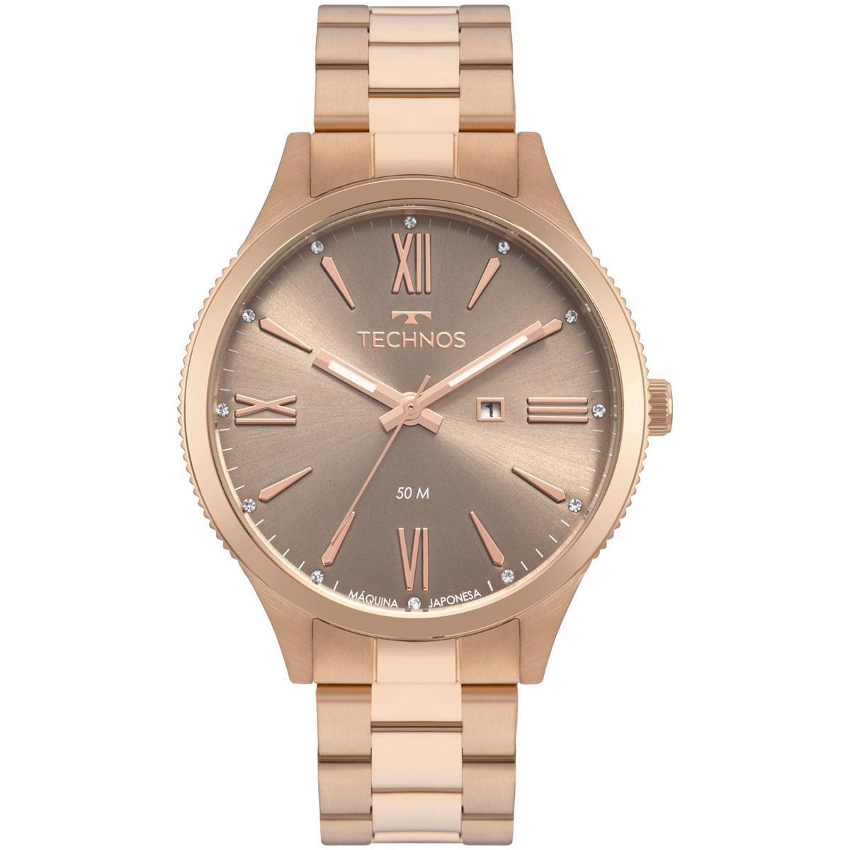 Relógio Feminino Technos Fashion Trend 2015CCR/4M 41mm Aço Rosé