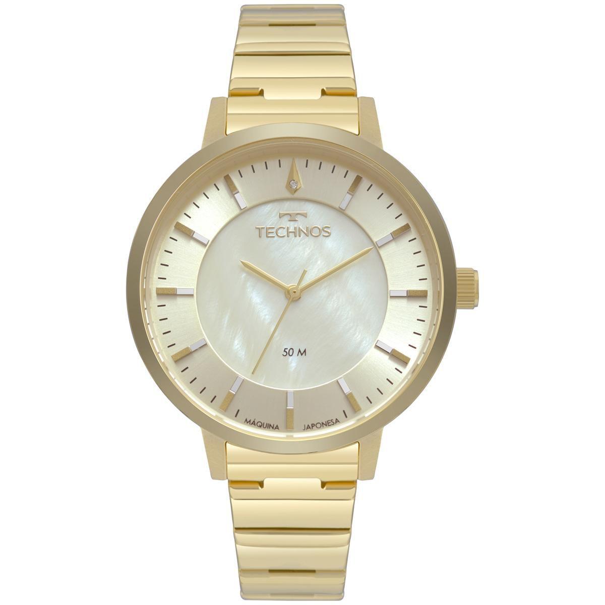 Relógio Feminino Technos Fashion Trend 2033CQ/4X 40mm Aço Dourado