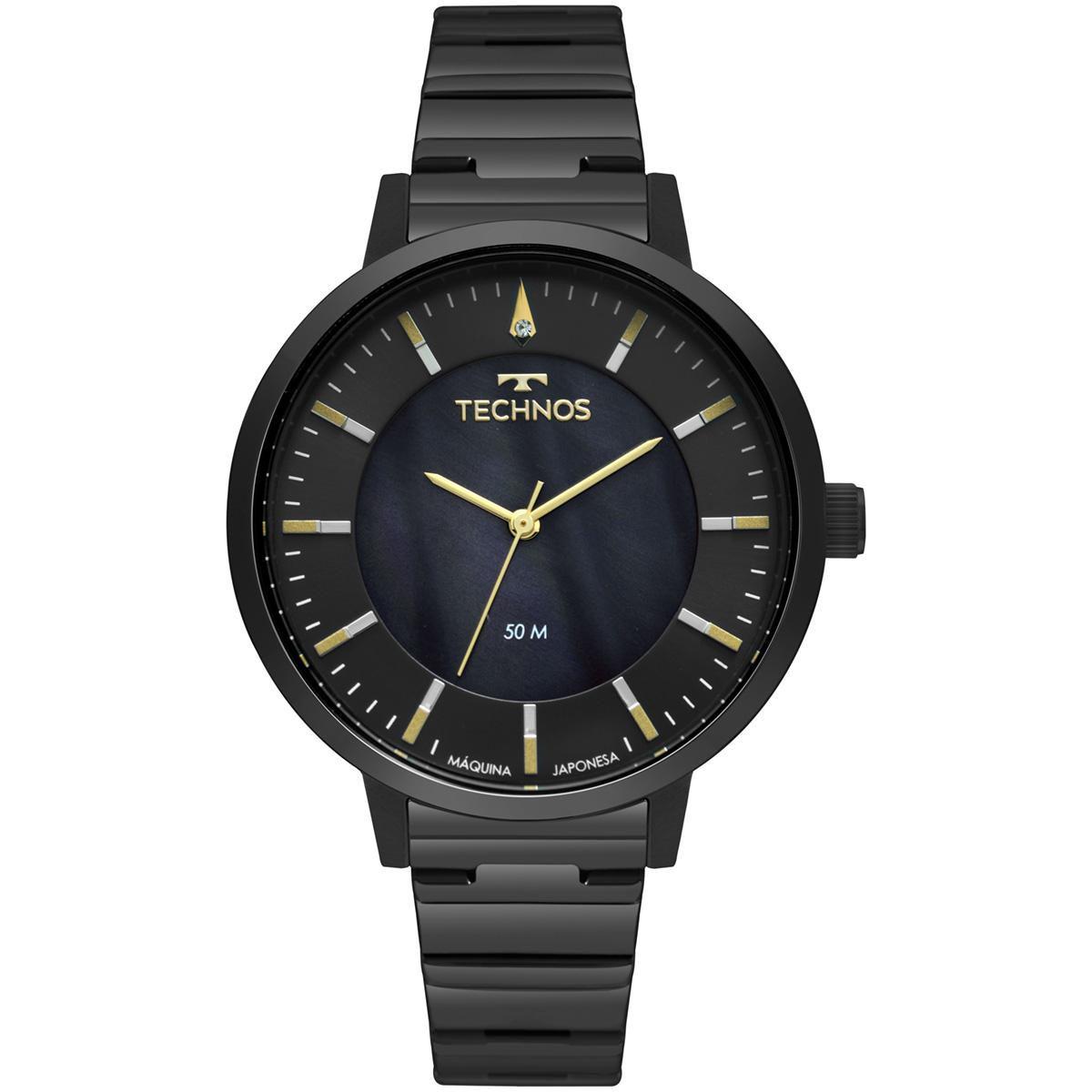 Relógio Feminino Technos Fashion Trend 2033CS/4P 40mm Aço Preto
