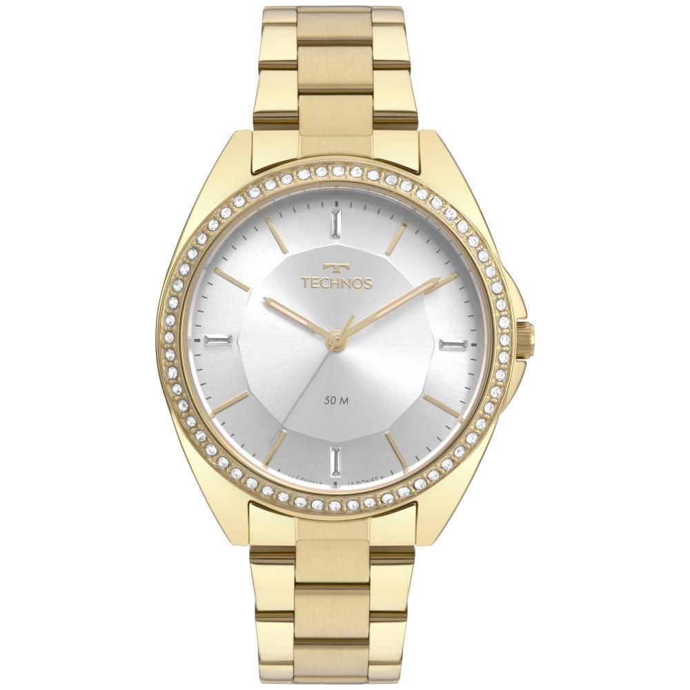 Relógio Feminino Technos Fashion Trend 2035MQX/4K 38mm Aço Dourado