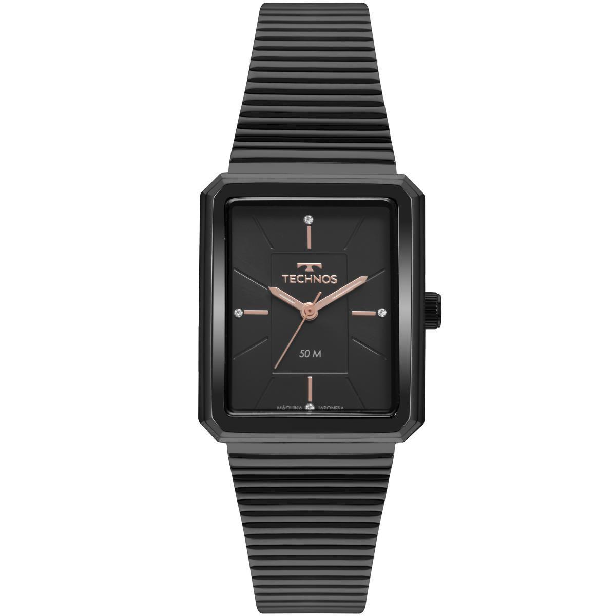 Relógio Feminino Technos Fashion Trend 2035MRC/4P 27mm Aço Preto
