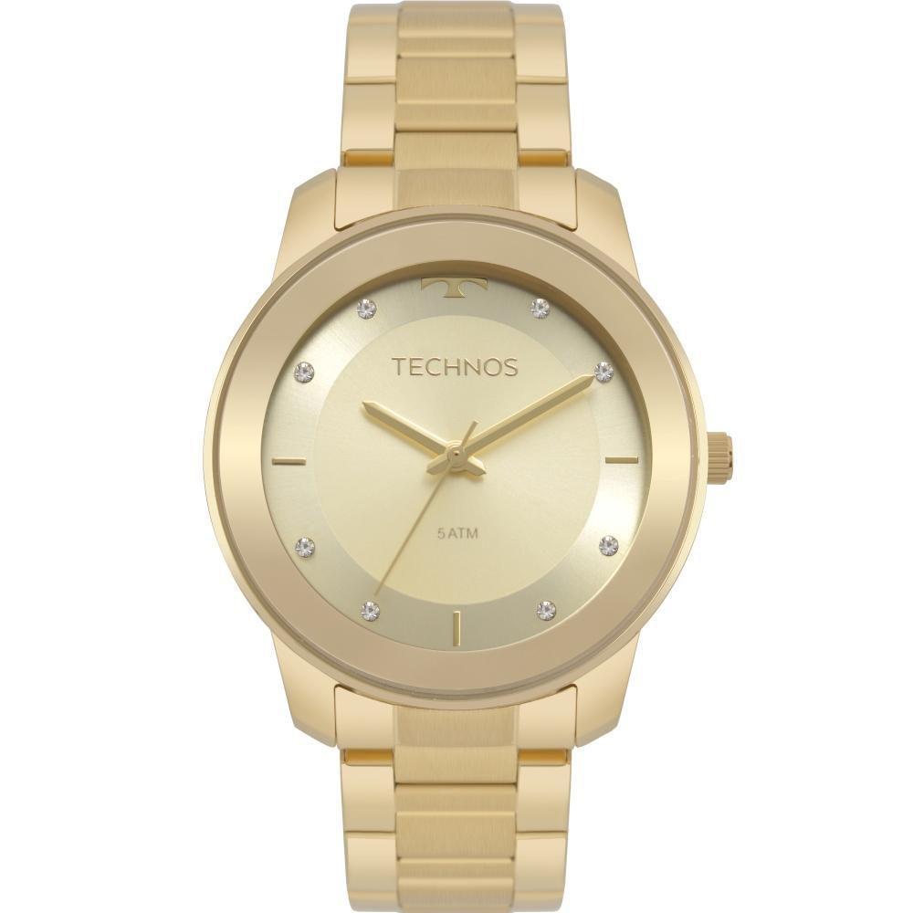 Relógio Feminino Technos Fashion Trend  2036MKD/4X 38mm Aço Dourado