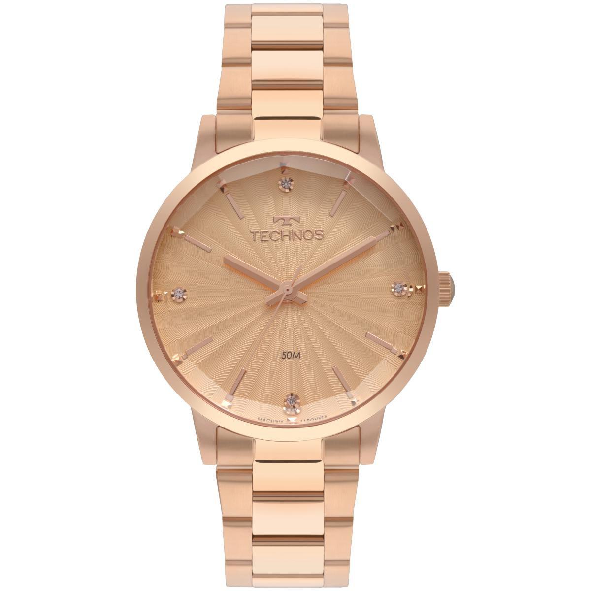 Relógio Feminino Technos Fashion Trend 2036MKU/4T 42mm Aço Rosé