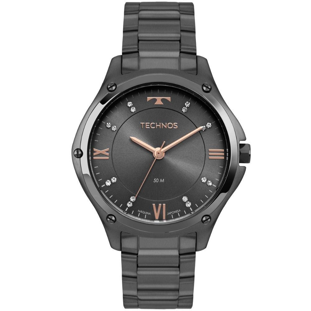 Relógio Feminino Technos Fashion Trend 2036MLF/4C 40mm Aço Grafite