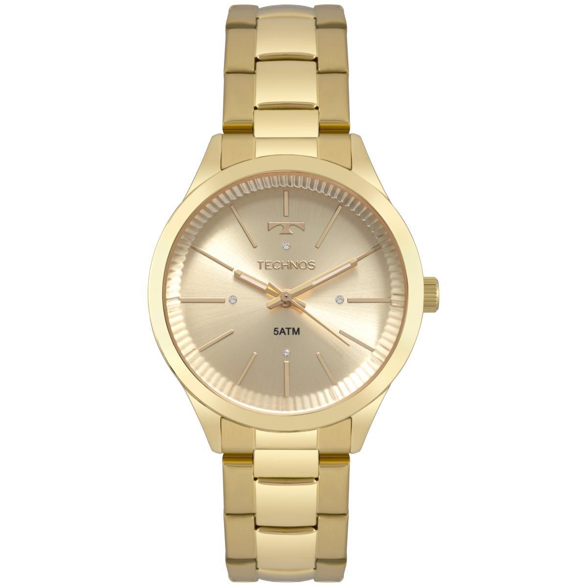 ec0985c755 Relógio Feminino Technos Fashion Trend 2039BX 4X 38mm Aço Dourado