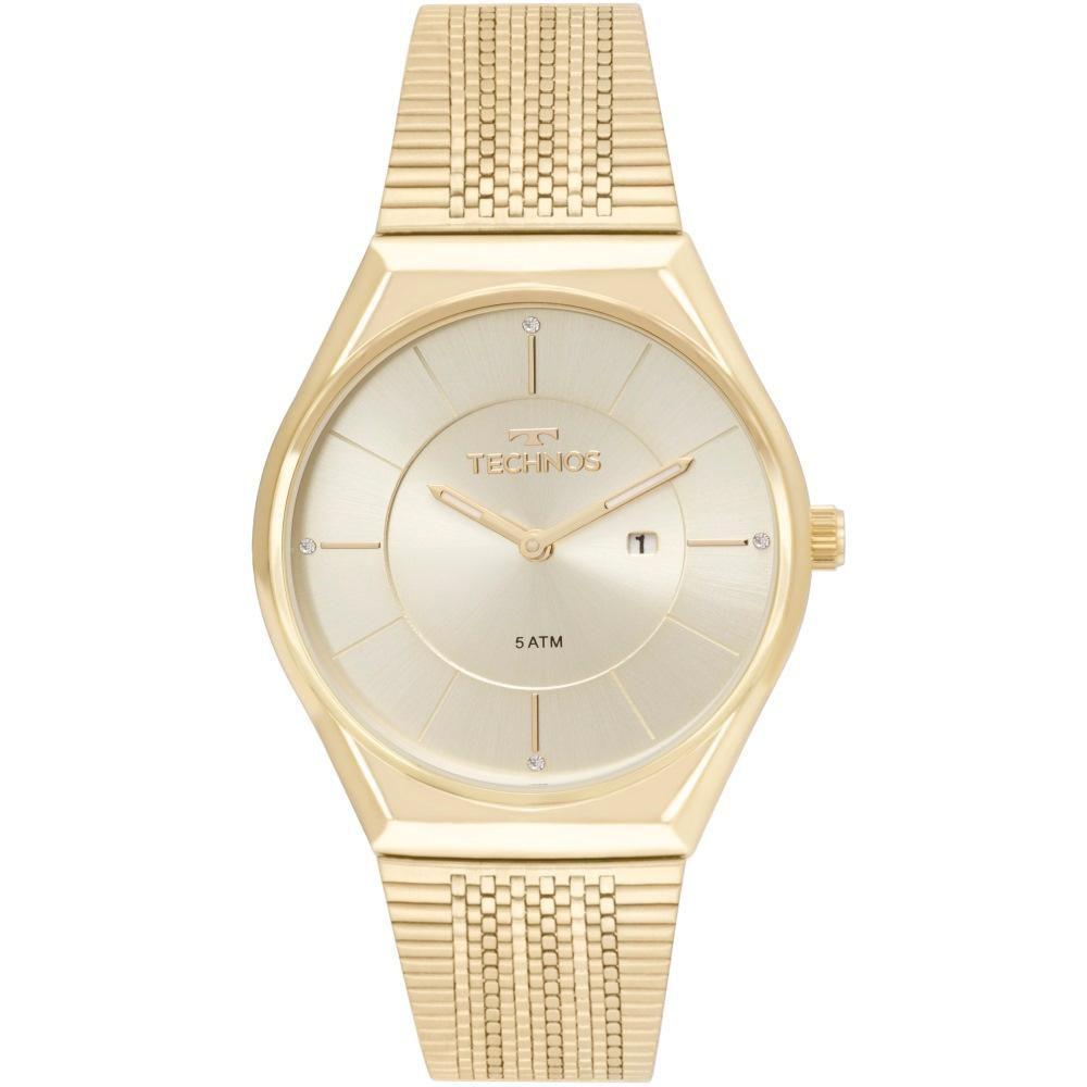 Relógio Feminino Technos Fashion Trend GL15AR/4X 38mm Aço Dourado