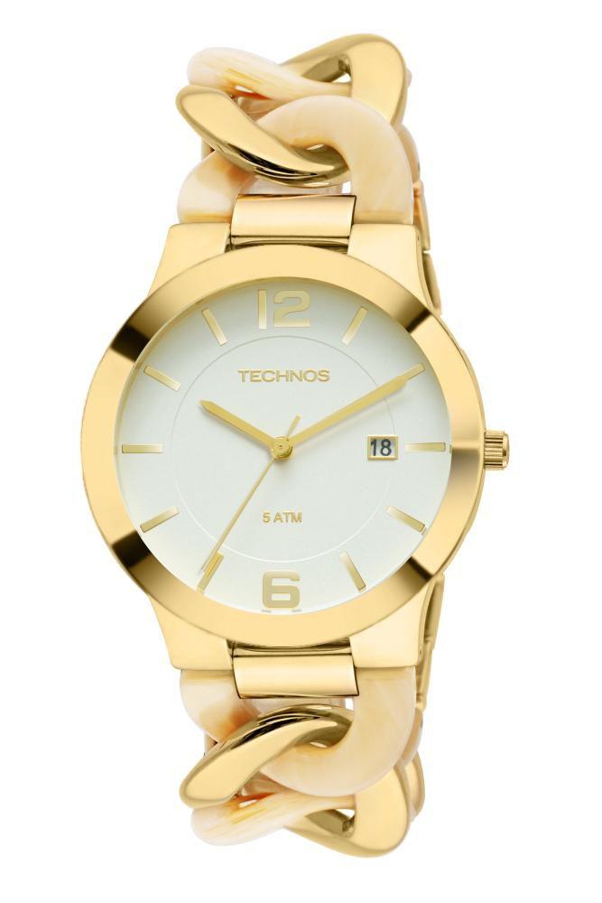 Relógio Feminino Technos Fashion Unique 2115UK/4B 40mm Aço Dourado