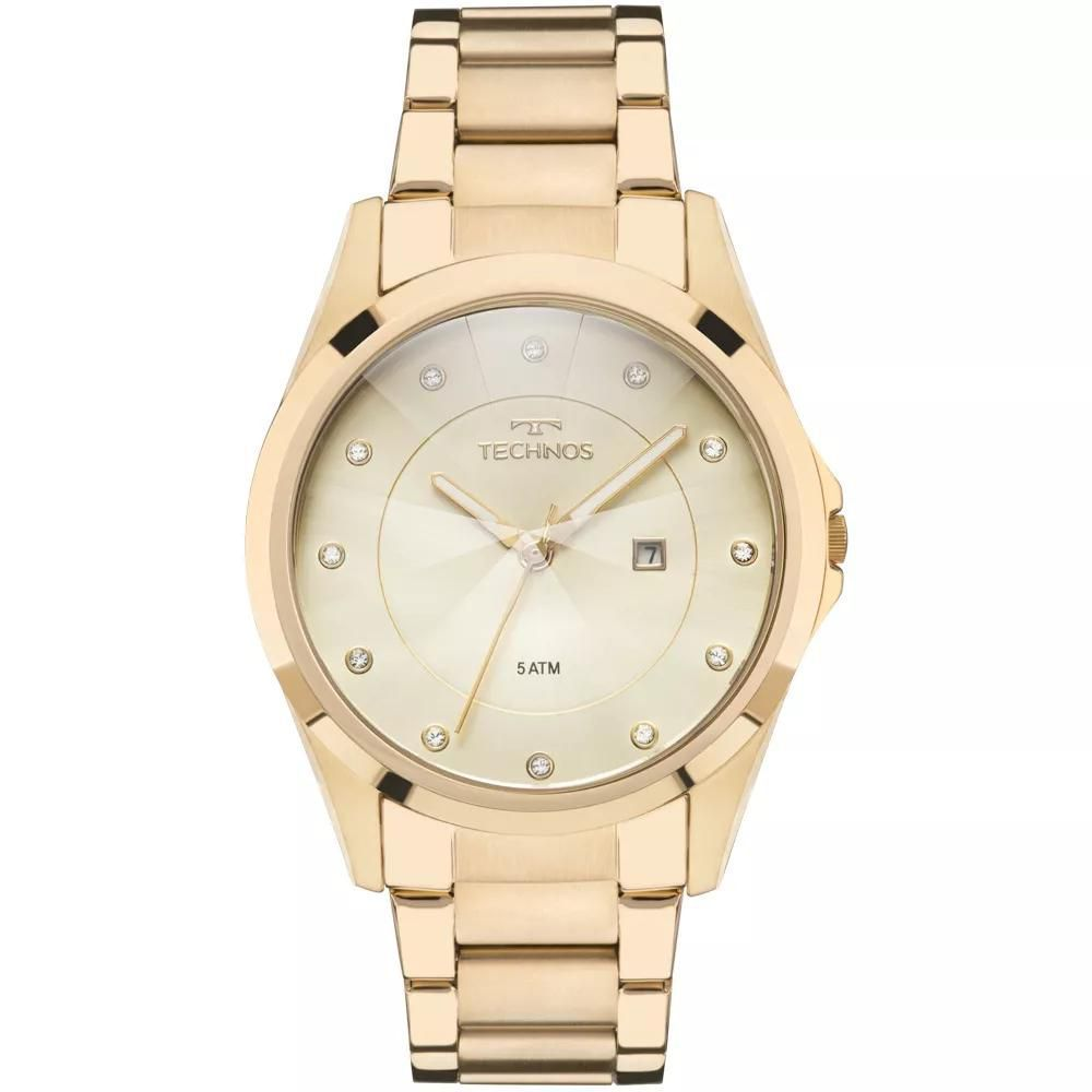 Relógio Feminino Technos GN10AS/4X Aço Dourado