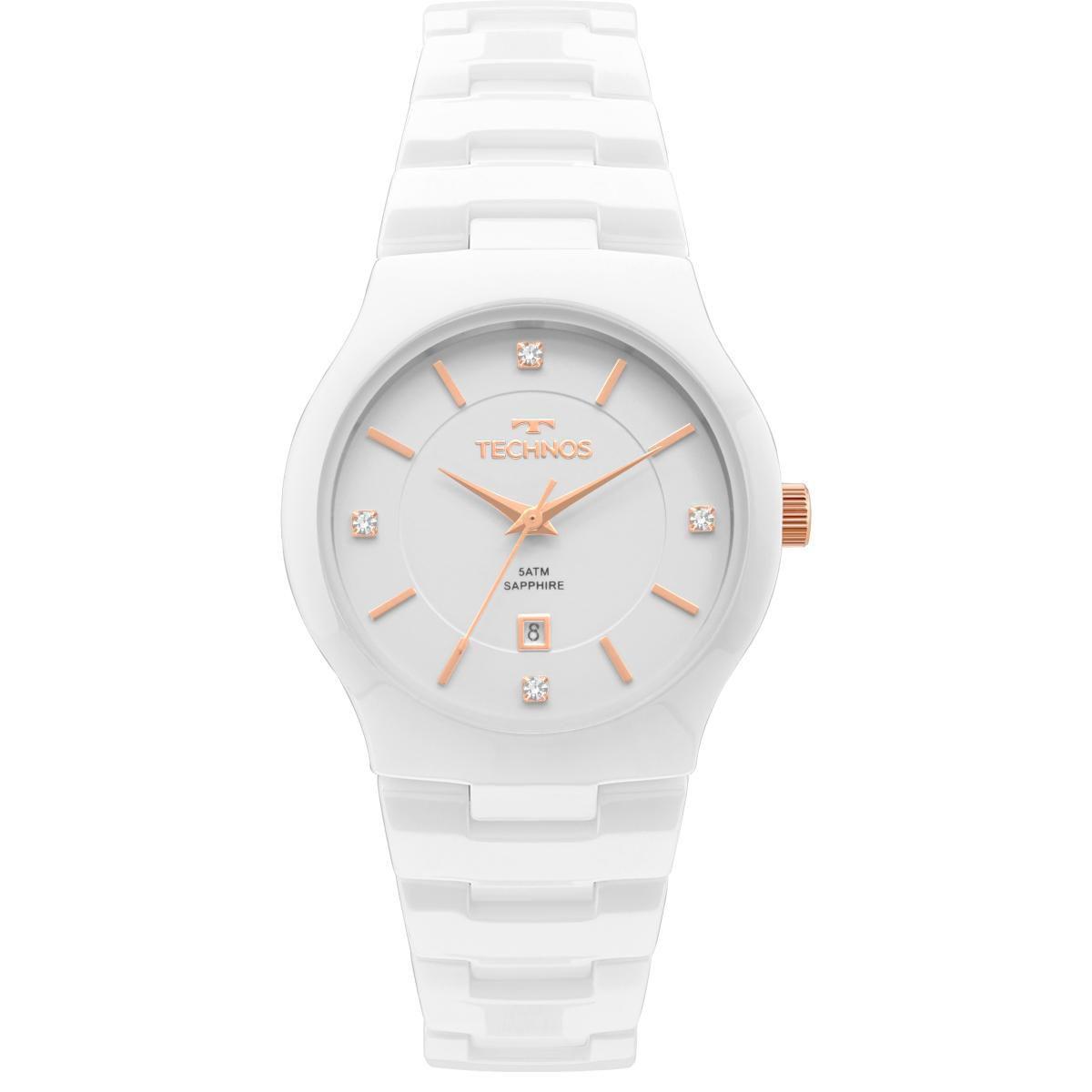 Relógio Feminino Technos GN10AV/4B 35mm Ceramica Branca