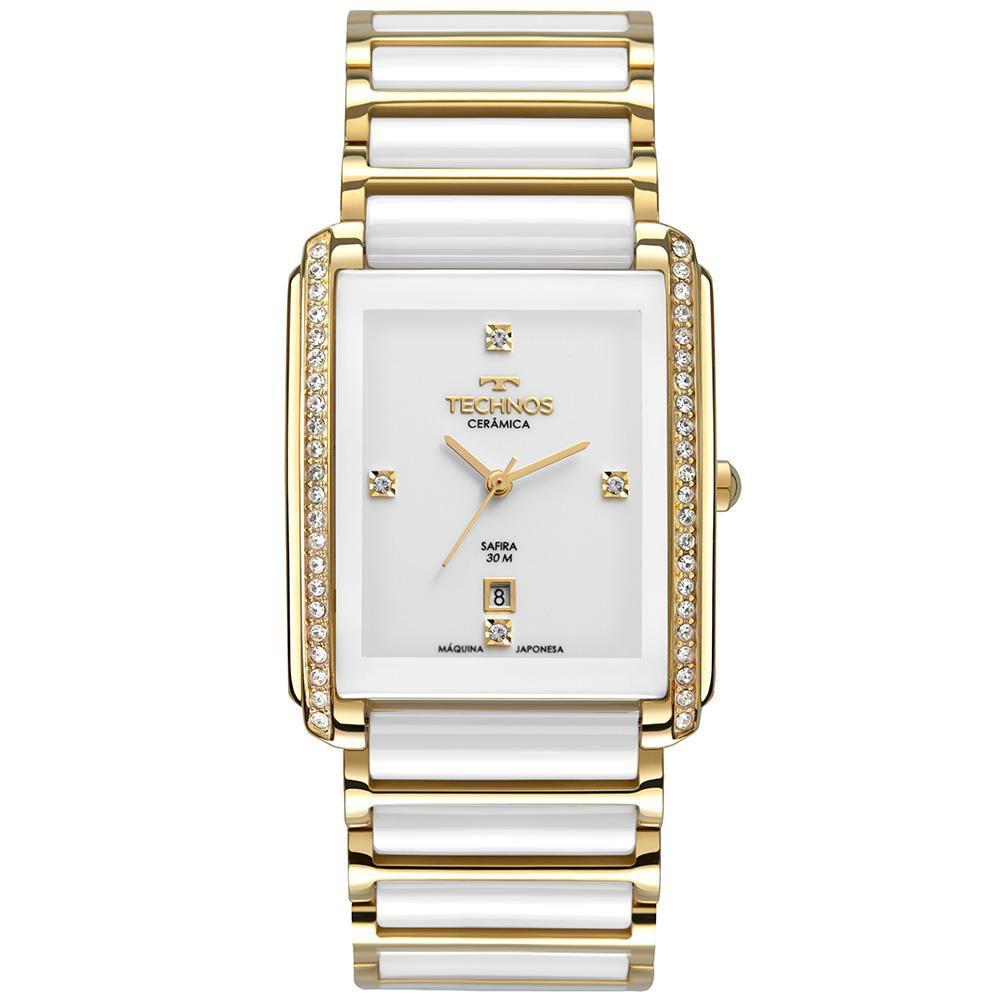 Relógio Feminino Technos GN10AX/4B 30mm Cerâmica Branca