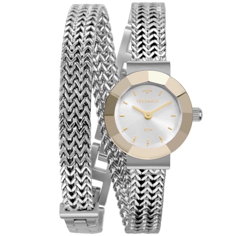 Relógio Feminino Technos Mini 5Y20IU/1K 21mm Aço Prata