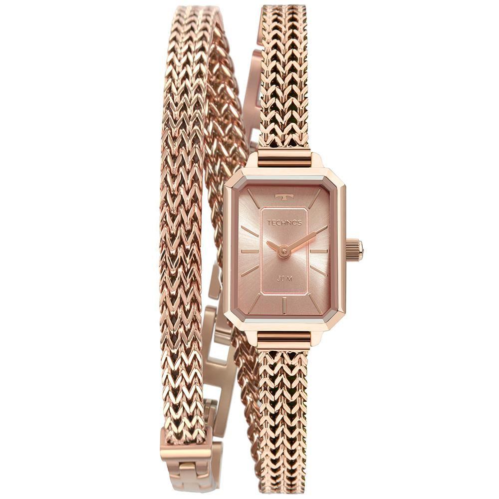 Relógio Feminino Technos Mini 5Y20IW/1T 19mm Aço Rosé
