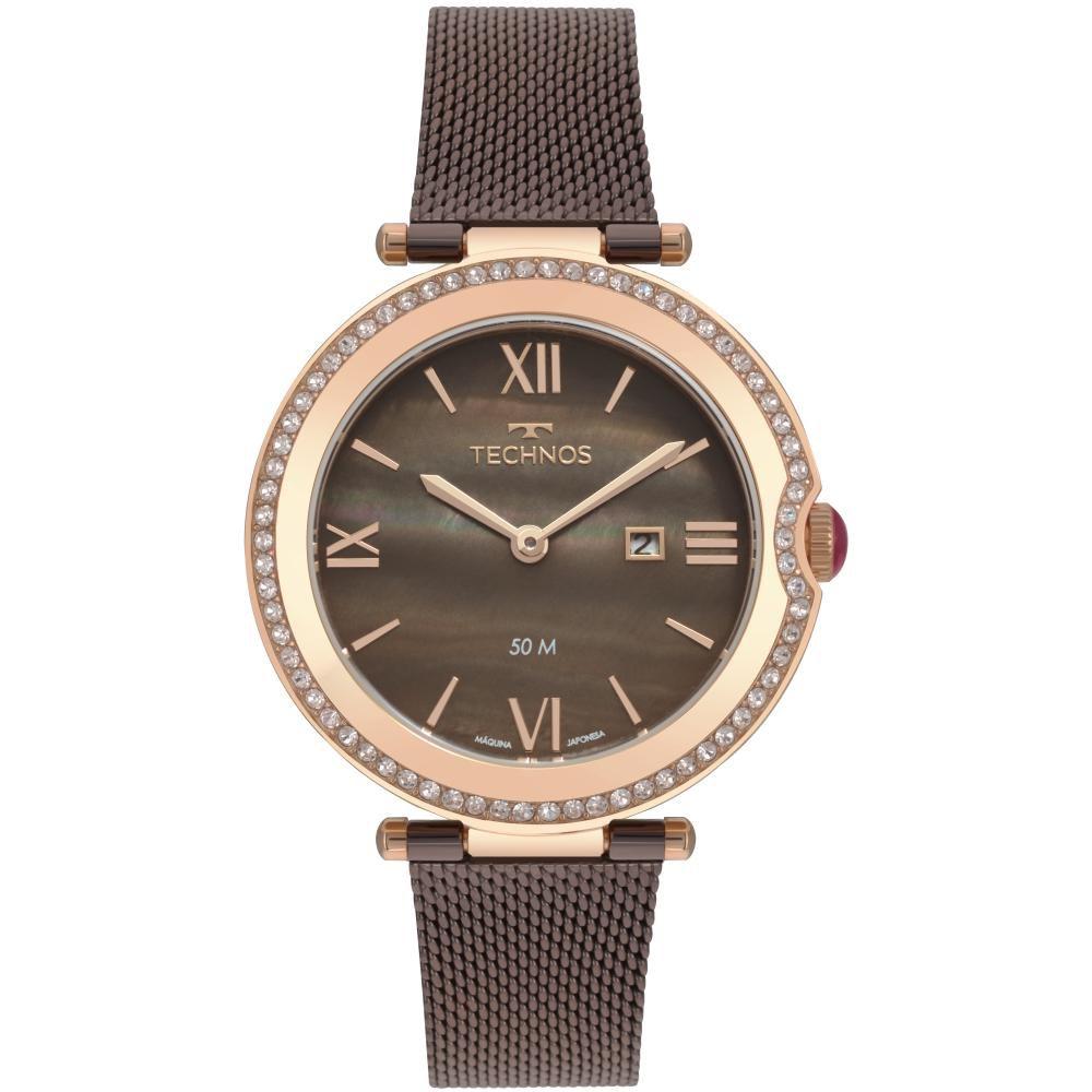 Relógio Feminino Technos S.T Moritz GL15AU/5M 34mm Aço Marrom