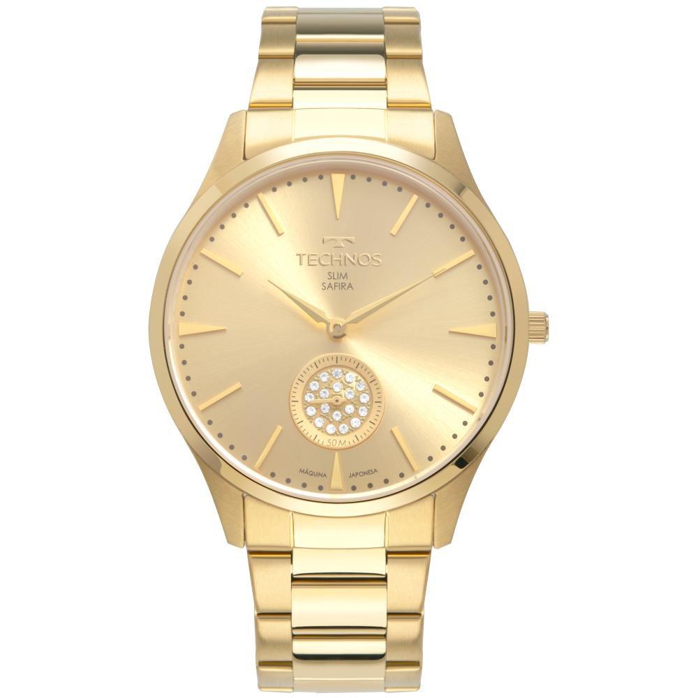 Relógio Feminino Technos Slim VD78AB/4X 40mm Aço Dourado