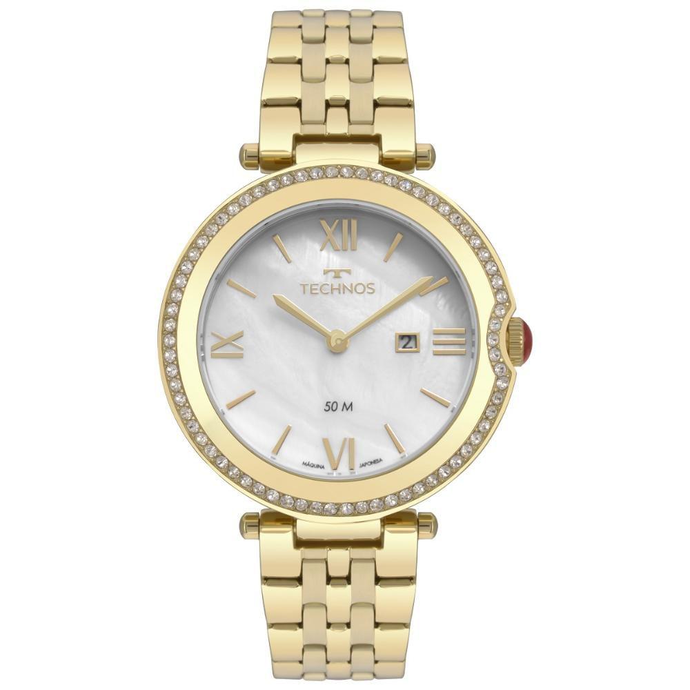 Relógio Feminino Technos ST. Moritz GL15AT/4B 35mm Aço Dourado