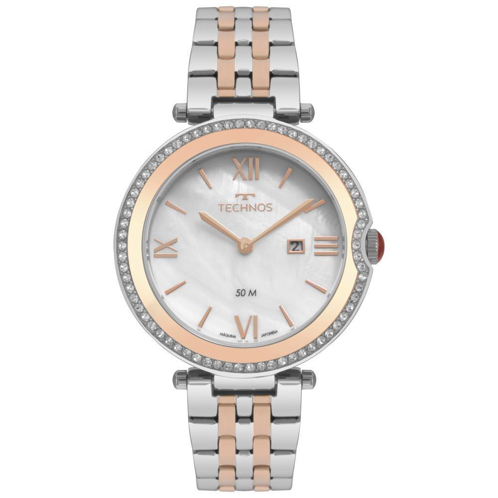 Relógio Feminino Technos ST. Moritz GL15AV/5B 35mm Aço Bicolor Prata/Rose