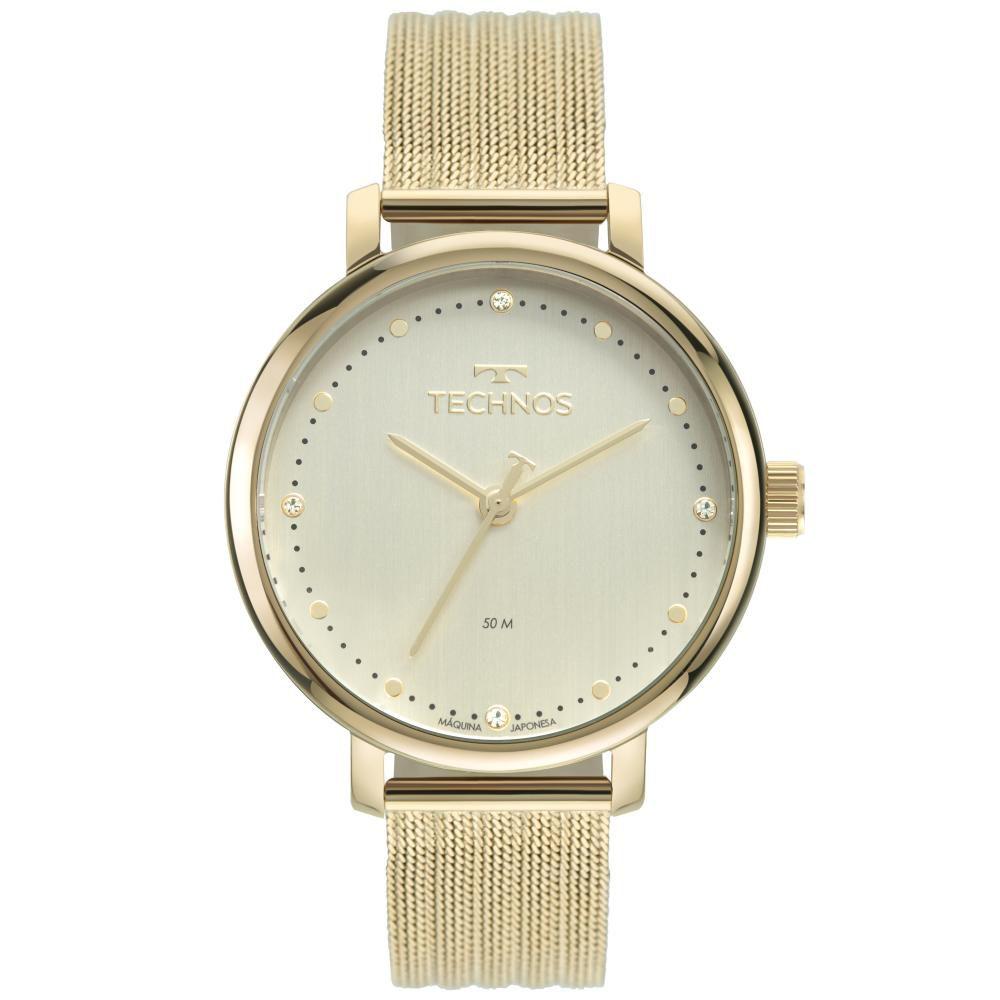 Relógio Feminino Technos Style 2035MSU/1K 38mm Aço Dourado