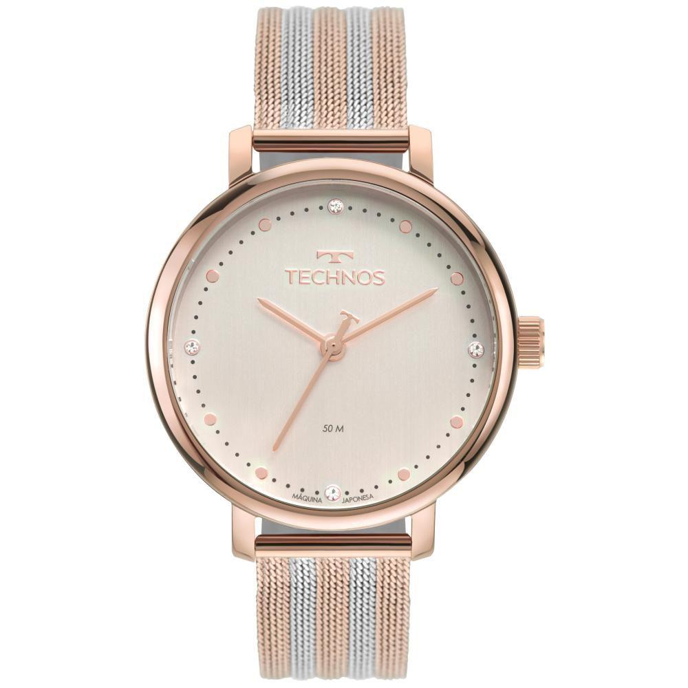 Relógio Feminino Technos Style 2035MSV/1T 38mm Aço Rosé/Prata