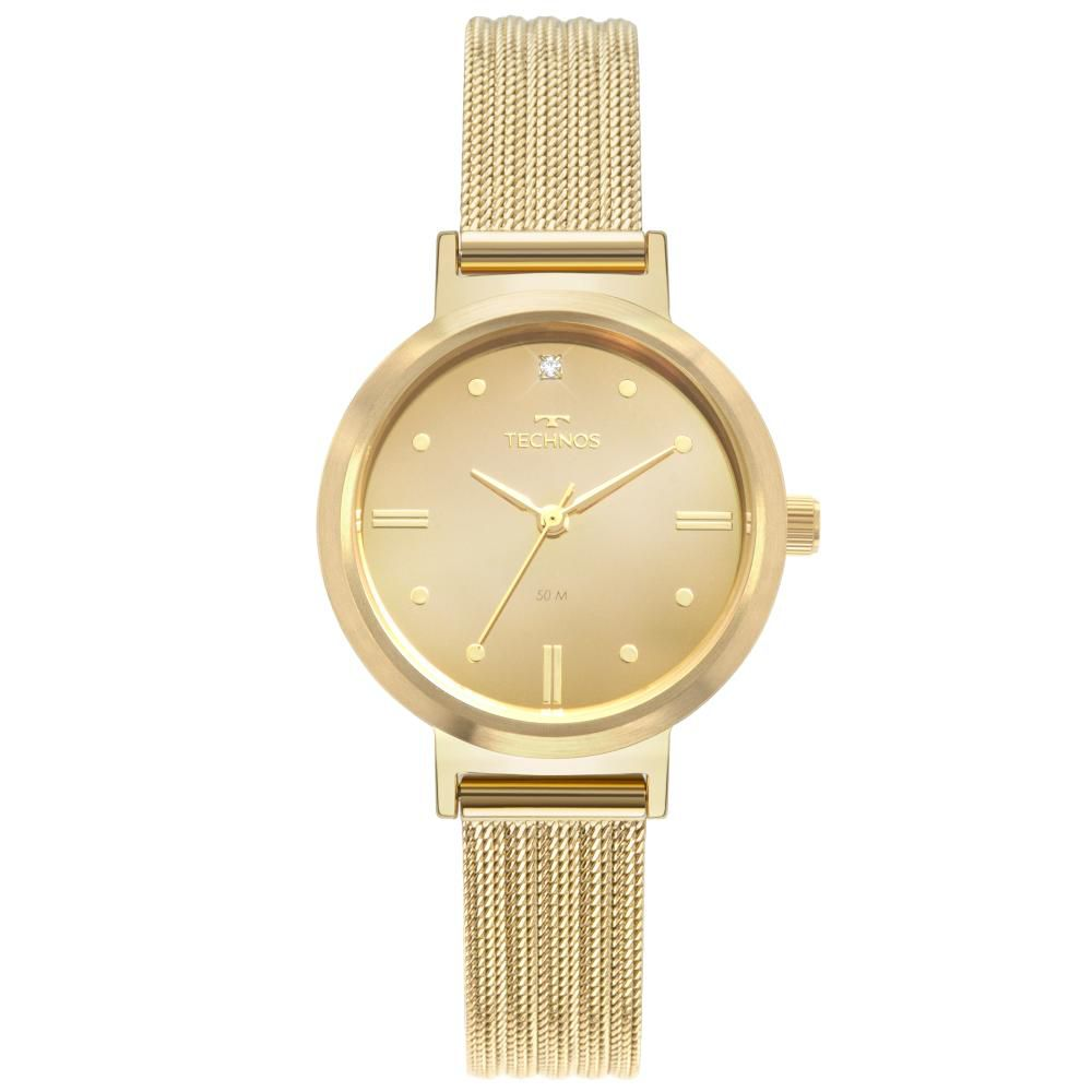 Relógio Feminino Technos Style 2036MLR/4D 30mm Aço Dourado