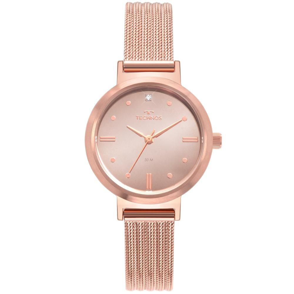 Relógio Feminino Technos Style 2036MLS/4T 30mm Aço Rosé